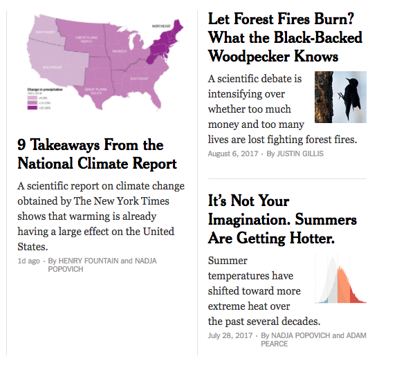 Fire and climate in the NYT.